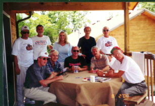RRG Guys with June Wilkinson at Cabins
